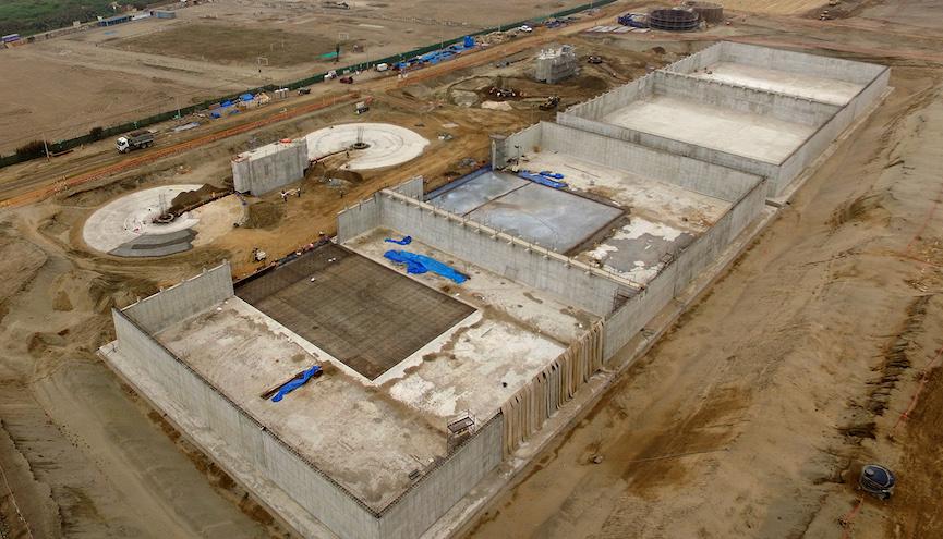 Avanzan las obras de la depuradora Pachacútec en Perú