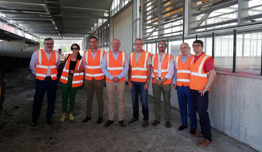 La Mancomunidad de la Comarca de Pamplona se interesa por la planta de secado solar de lodos de Cañada Hermosa