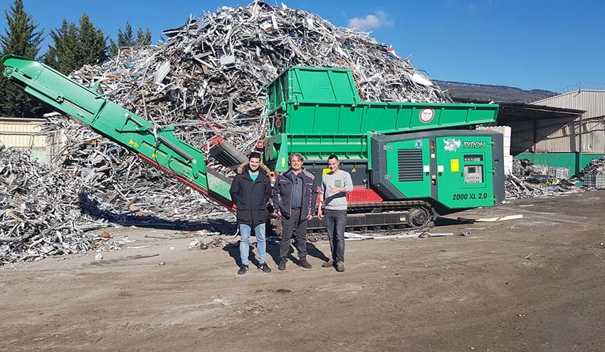 Triturador Haas Tyron en la planta de reciclaje de Pamplona