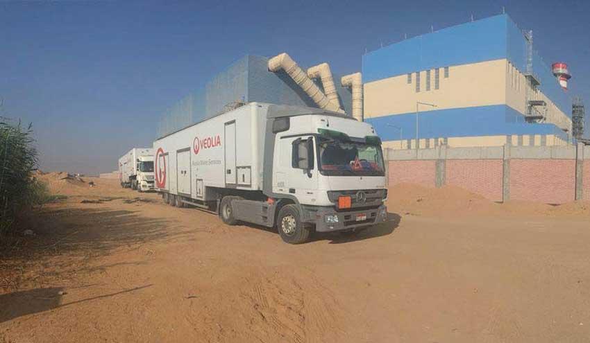 Veolia aumenta su capacidad de servicios móviles de agua en Oriente Medio y el Golfo