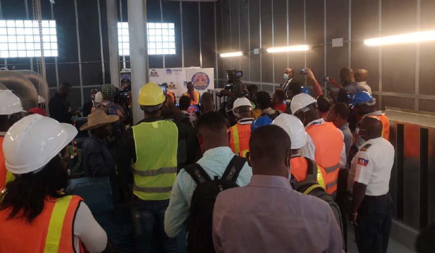 Entregadas provisionalmente obras de ocho pozos y estación de rebombeo en Puerto Príncipe (Haití)