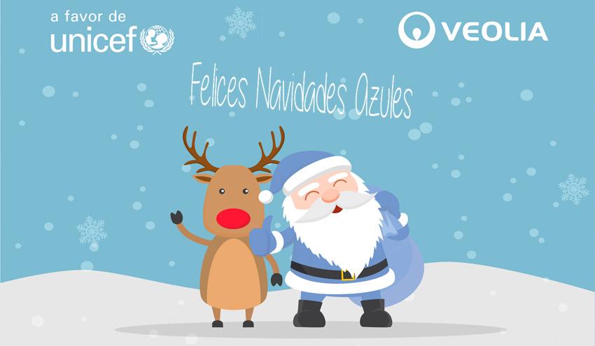 """""""Navidades Azules"""", una campaña de Veolia Water Technologies Ibérica a favor de UNICEF"""