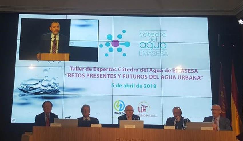 Fernando Morcillo apunta los retos presentes y futuros del agua urbana