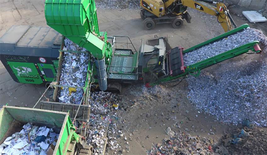 Una planta móvil para residuos urbanos e industriales con la tecnología de HAAS