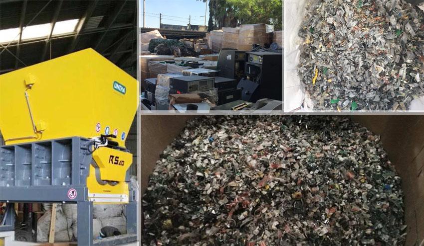 UNTHA Ibérica México entrega dos trituradoras RS para el reciclaje de RAEE en San Luis Potosí