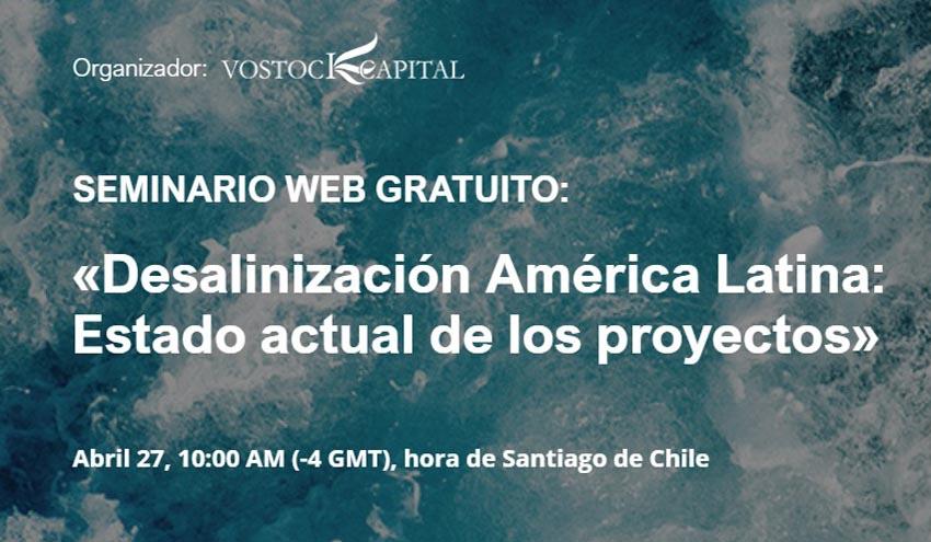 Webinar gratuito sobre desalinización en América Latina