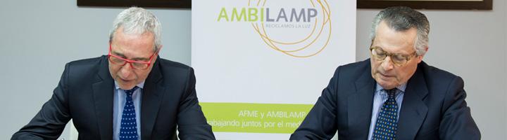 AFME y AMBILAMP firman un acuerdo de colaboración para impulsar la gestión de RAEE entre los fabricantes de material eléctrico