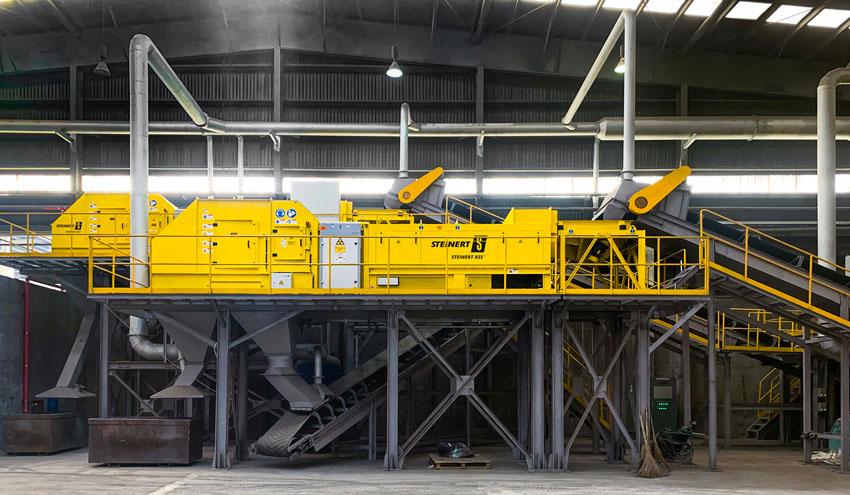 STEINERT logra reducir el contenido de magnesio en el tratamiento de chatarras de aluminio