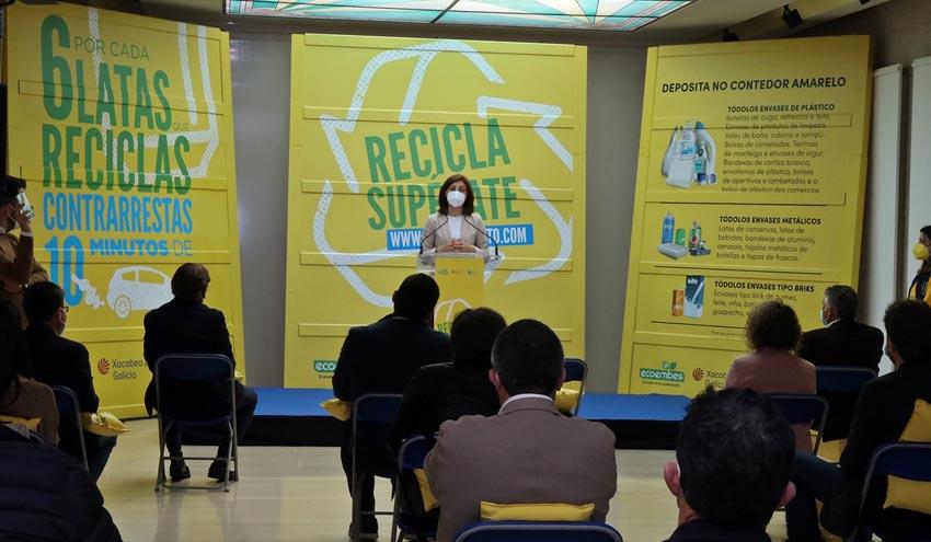 Cada gallego recicló alrededor de 15 kg de envases de plástico, latas y briks en 2020