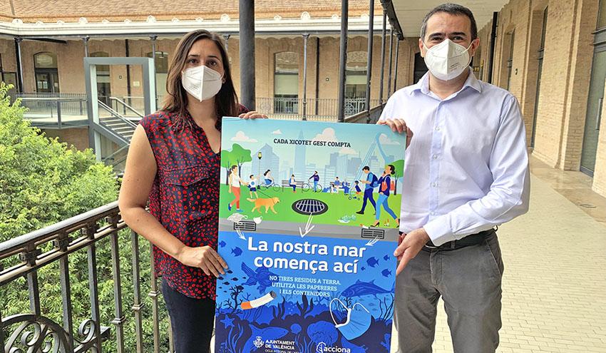ACCIONA y el Ayuntamiento de Valencia conciencian sobre el buen uso de la red de saneamiento
