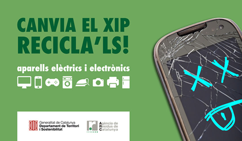 Campaña de recogida selectiva de RAEEs en las bibliotecas públicas de Cataluña