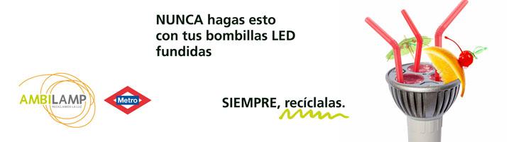 Nueva campaña de AMBILAMP en colaboración con Metro de Madrid