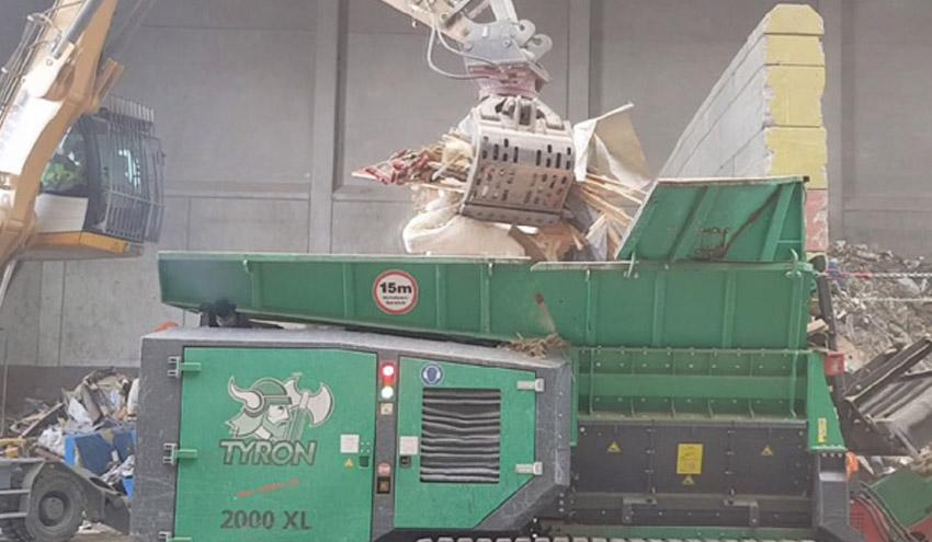 Trituración de colchones, voluminosos y residuos industriales, con HAAS