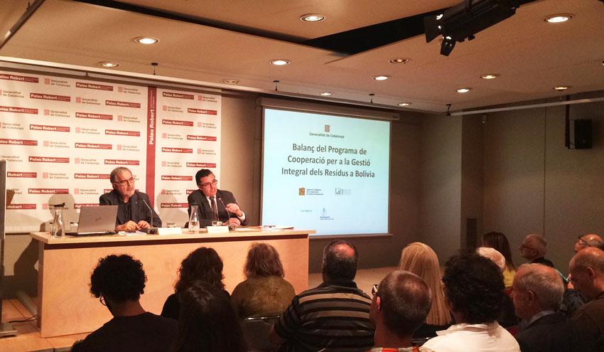 Cataluña apoya a Bolivia en el desarrollo de la gestión de residuos en el país