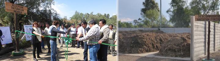 La ARC colabora en la ampliación y mejora de una planta de compostaje en el municipio boliviano de Tiquipaya