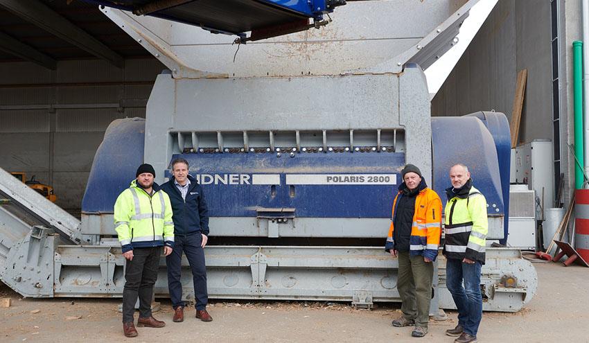 Polaris 2800: la trituradora óptima para residuos de madera