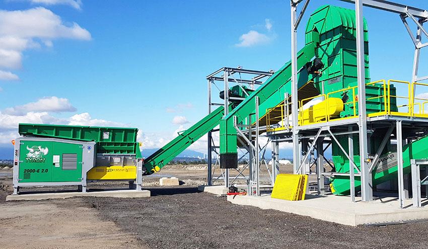 Planta de reciclaje de madera HAAS en Canadá