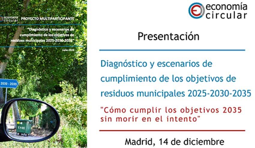 Estudio sobre escenarios de cumplimiento de los objetivos de Residuos Municipales 2025-2030-2035
