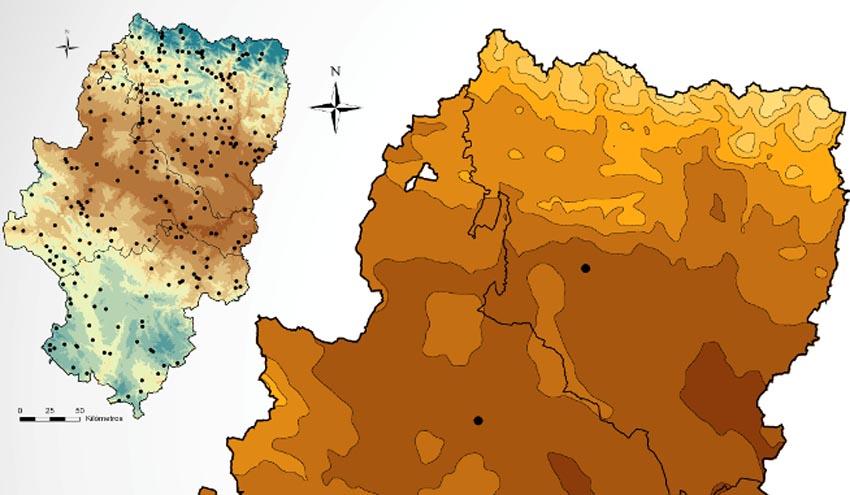El Atlas Climático de Aragón estará actualizado antes de final de año