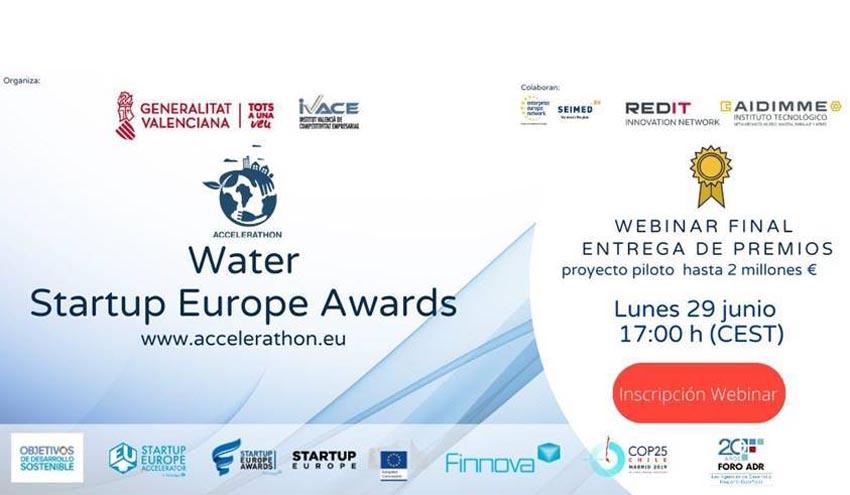 Los participantes del Accelerathon IVACE Water Startup Europe Awards se preparan para la final