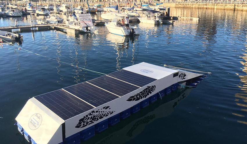 Probado con éxito el prototipo de robot Clean-Dock para la limpieza de microplásticos