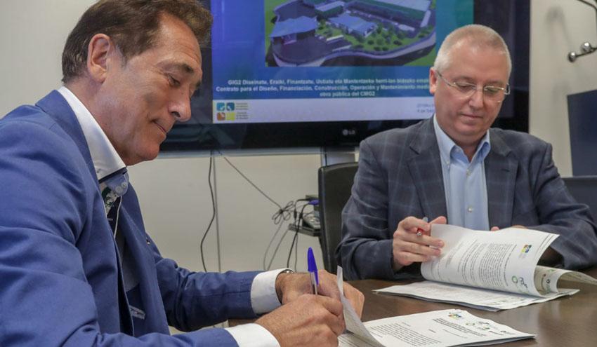 Firmado el contrato para la construcción de la segunda fase del Complejo Medioambiental de Gipuzkoa