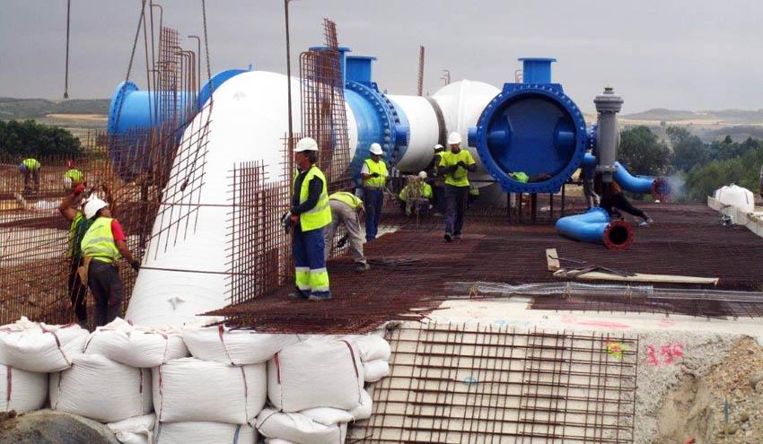 Acuerdo para la construcción simultánea de dos tuberías en la segunda fase del Canal de Navarra