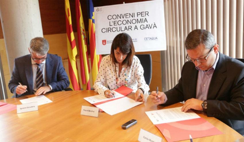 Agbar, el Ayuntamiento de Gavá y Cetaqua apuestan por la economía circular