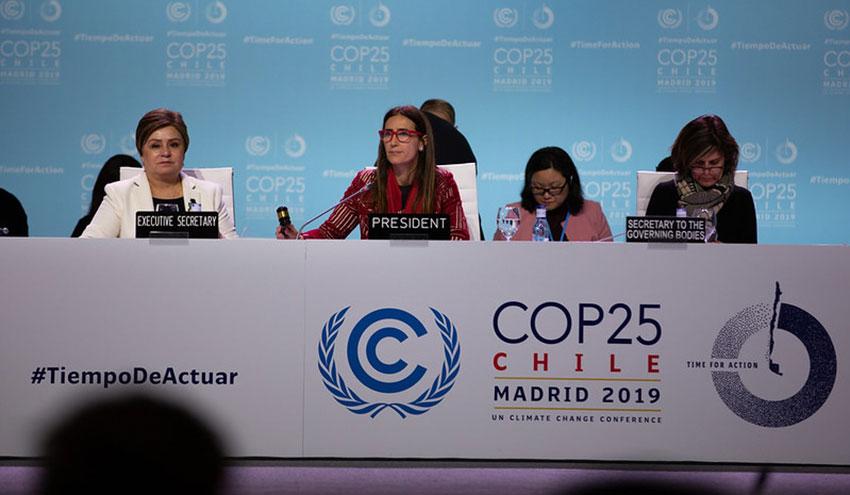 Termina la COP25 sin acuerdo sobre los compromisos nacionales de reducción de las emisiones de carbono