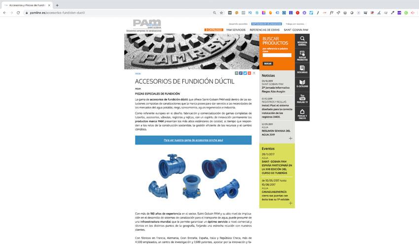 Saint-Gobain PAM lanza una nueva sección en su web destinada a accesorios