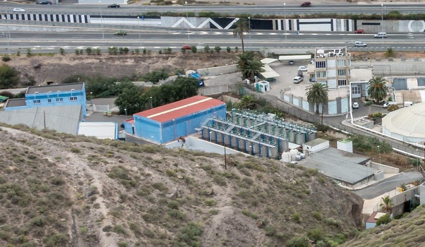 Se reanudan las obras en la estación depuradora de Barranco Seco en Gran Canaria