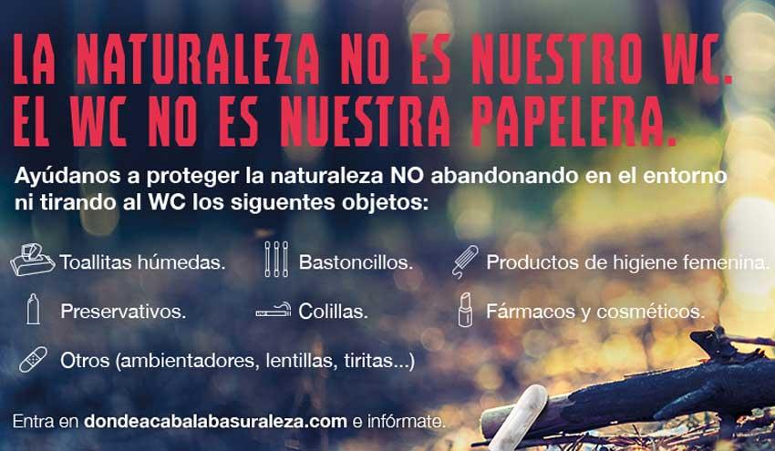 LIBERA lanza una campaña para concienciar sobre las consecuencias de tirar residuos por el inodoro
