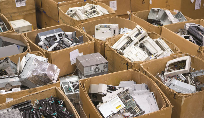 Soluciones para la separación y clasificación de plásticos de residuos de aparatos electrónicos