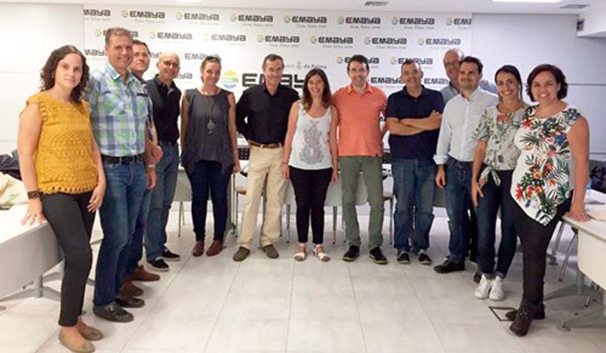 Cuatro cabildos de Canarias y Ecoembes conocen la recogida selectiva móvil del centro histórico de Palma