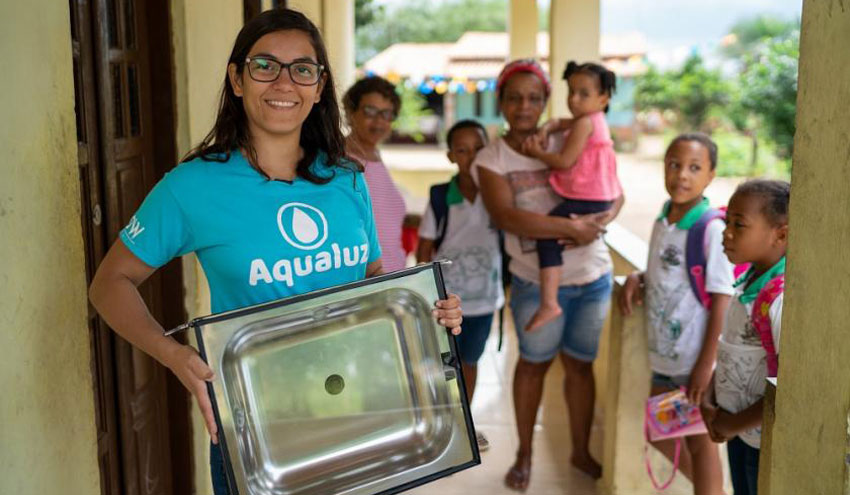 Aqualuz: agua limpia gracias a la energía solar en Brasil
