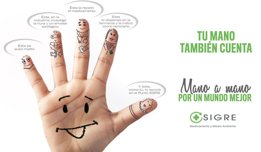 """SIGRE lanza su nueva campaña """"Tu mano también cuenta"""""""