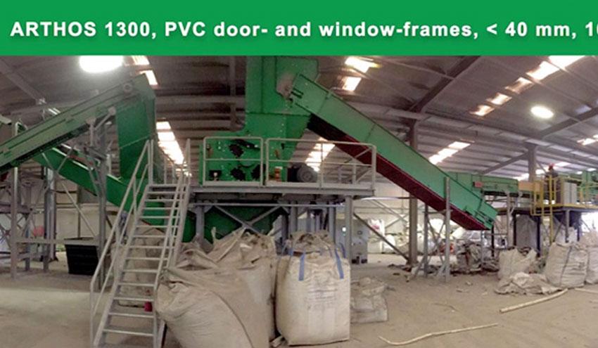 Planta de reciclaje para ventanas y puertas de PVC