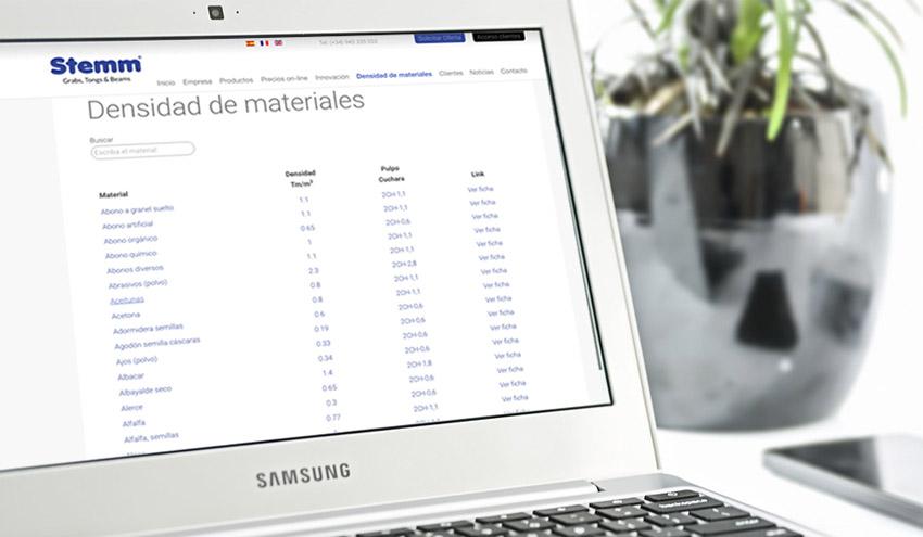STEMM lanza una novedosa herramienta para conocer la densidad de 1700 productos