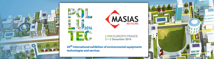 Masias Recycling presenta en Lyon su sistema Waste to Cash durante la 26ª edición de Pollutec