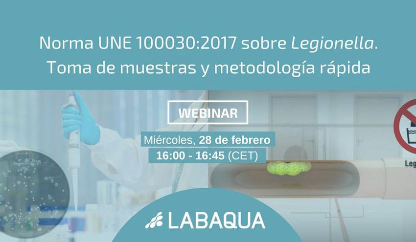 Norma UNE 100030:2017 sobre Legionella. Toma de muestras y metodología rápida