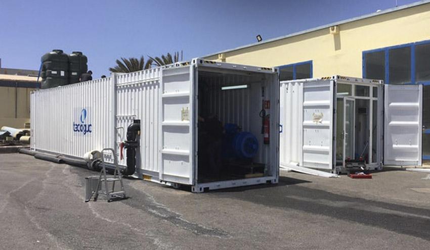 La Desaladora de Puerto del Rosario incorpora un nuevo módulo portátil para incrementar su capacidad