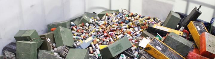 Hasta un 75% de los materiales de las pilas domésticas son reutilizables, según un estudio de Ecopilas