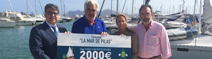 Ecopilas recogió este verano más de mil kilos de pilas en Clubs Náuticos y Escuelas de Vela de toda España