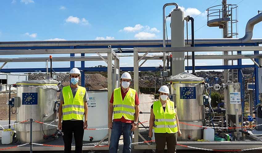 Purificar biogás con tecnología biológica que reduce el impacto ambiental