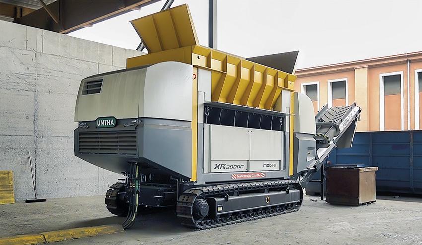 Potencia y flexibilidad, ventajas de la trituradora XR3000C mobil-e de UNTHA