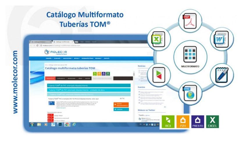 Molecor© lanza su Catálogo Multiformato Tuberías TOM®