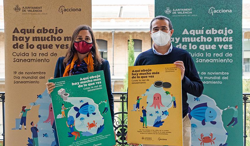ACCIONA y el Ayuntamiento de Valencia conciencian sobre el valor de la red de saneamiento en la ciudad