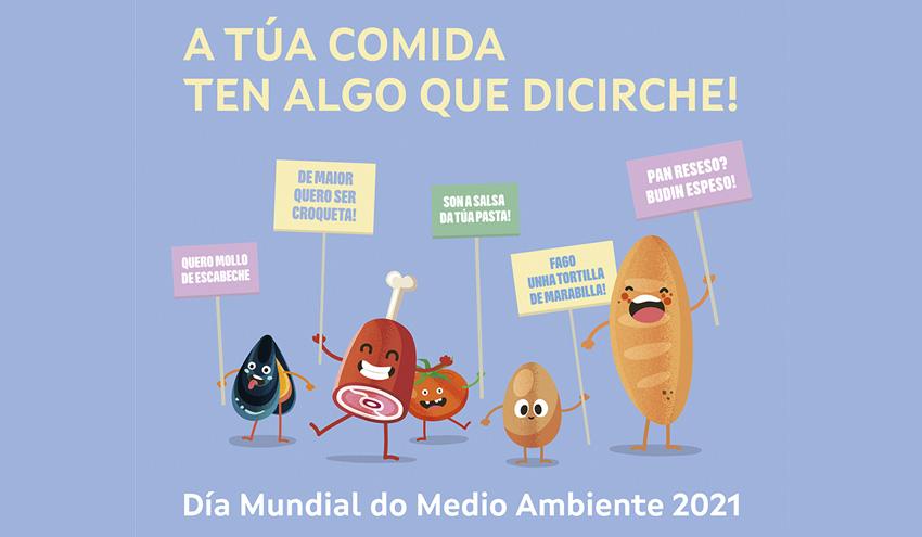 """""""Tu comida tiene algo que decirte"""", nueva campaña contra el desperdicio alimentario de Sogama"""