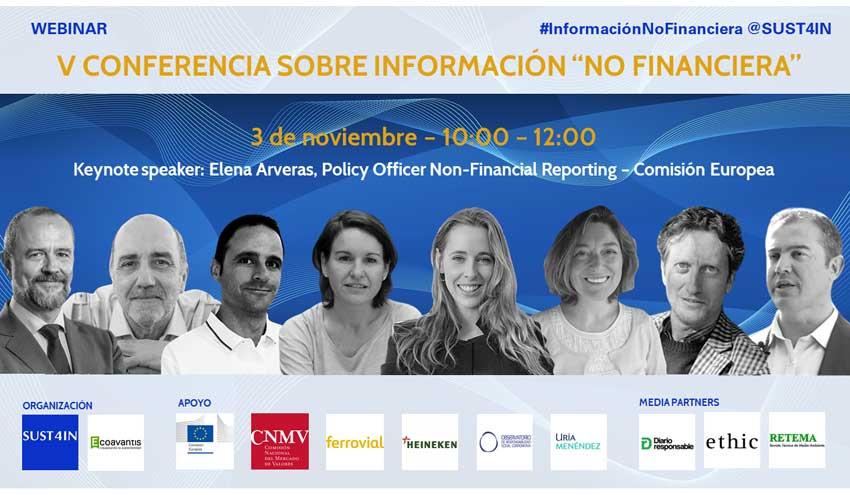 """V Conferencia sobre Información """"No Financiera"""" de SUST4IN"""