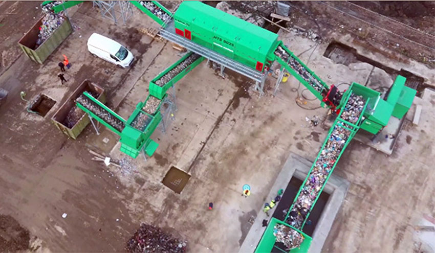 Planta de reciclaje de residuos urbanos con Haas